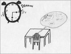 Dessin d'une élève belge en difficulté scolaire