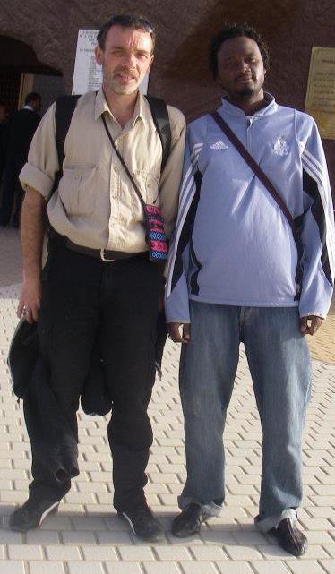 Avec Mika Camara, du Sénégal