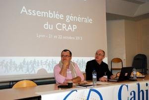 Jean-Michel Faivre, trésorier et Philippe Watrelot, président