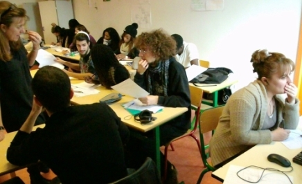 Des élèves au Microlycée de Vitry