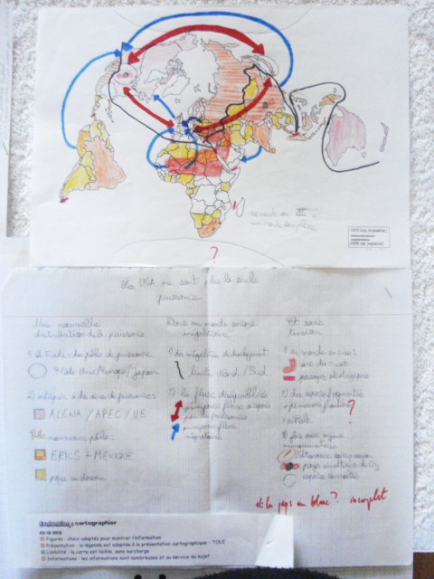 Cartographie d'un élève de terminale
