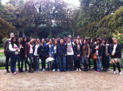 La TeamTes2 dans les jardins du ministère de la Justice, lors des journées du Patrimoine, septembre 2013. ©DR