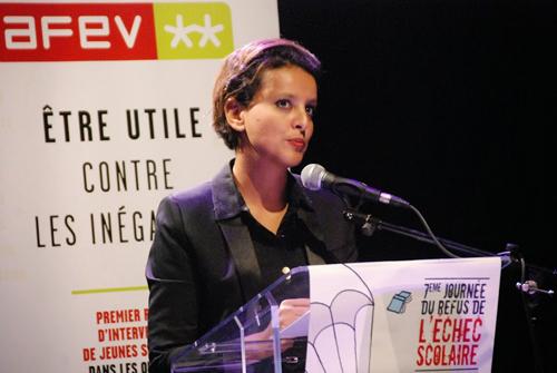 Najat Vallaud-Belkacem lors de son intervention à la Journée de refus de l'échec scolaire ©DR