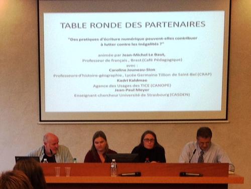 La table ronde des partenaires de l'AFEF, avec pour le CRAP, Caroline Jouneau-Sion.