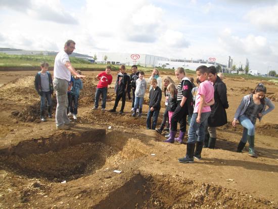 Visite d'un chantier de fouilles