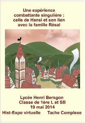 Affiche de l'exposiiton des 1ères du lycée Bergson
