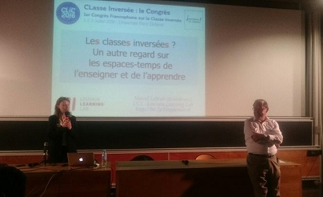 Héloïse Dufour, présidente d'Inversons la classe ! présente Marcel Lebrun