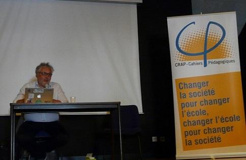 Jacques-François Marchandise aux rencontres du CRAP-Cahiers pédagogiques