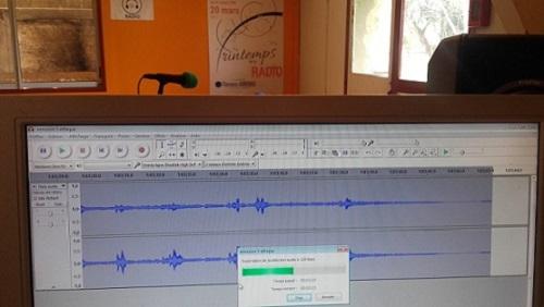 Séance d'enregistrement en studio