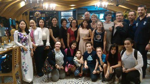 La délégation française avec les collègues vietnamiennes lors du séjour à Da Nang.