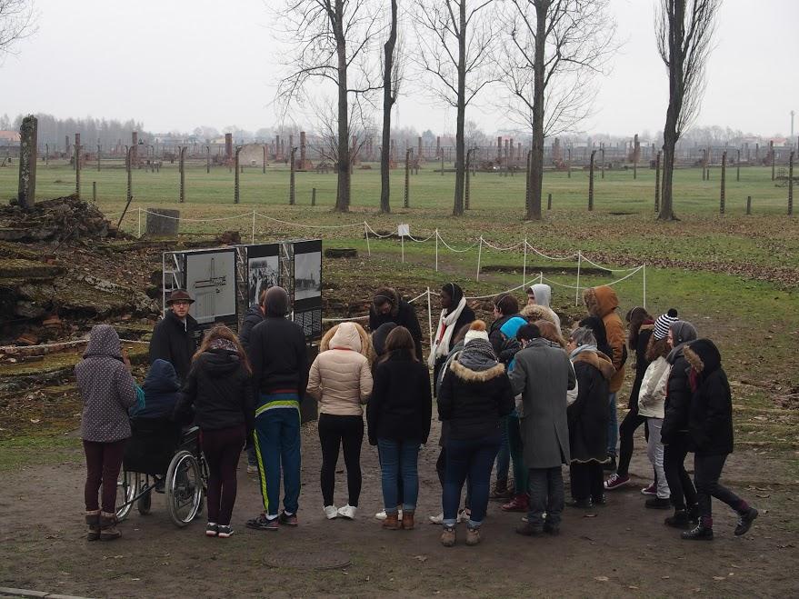 A Auschwitz, en mars 2016