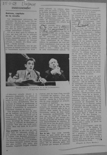 Amiens, capitale de la révolte, L'Express du 25 mars 1968