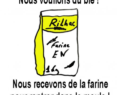 Direction, broyée au moulin de l'EN dessin de Fabien Crégut