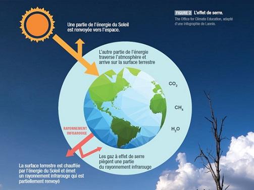 """Schéma extrait du résumé de l'OCE à destination des enseignants basé sur le rapport spécial du GIEC <em></noscript>L'océan et la cryosphère face au changement climatique</em>"""" title=""""Schéma extrait du résumé de l'OCE à destination des enseignants basé sur le rapport spécial du GIEC <em>L'océan et la cryosphère face au changement climatique</em>"""" class=""""caption"""" align=""""center"""" /></p> <p>Les conséquences sont importantes sur la cryosphère (les pôles, qui sont les principaux réservoirs de glace). La fonte de la glace continentale (glaciers et icebergs) ajoute de l'eau à l'océan et contribue donc à la hausse du niveau des mers. Et la fonte de la glace de mer (banquise) comme celle de la glace continentale diminue les zones blanches qui réfléchissent les rayons solaires au profit de surfaces plus sombres, ce qui augmente la chaleur et participe à la fonte des glaces. Cela cause un cercle vicieux, qui est une des raisons pour lesquelles on a du mal à estimer le réchauffement.</p> <p>Le changement climatique aura en outre des conséquences sur la biodiversité (en particulier avec la disparition possible des récifs coraliens qui abritent un quart de la biodiversité) l'agriculture: certaines régions vont avoir beaucoup plus de mal à produire des ressources alimentaires. Et enfin, la perte des habitats naturels pour nombre d'animaux et de plantes, avec en particulier le risque de disparition des récifs coraliens, qui abritent un quart de la biodiversité terrestre.</p> <p>L'un des arguments des « climatosceptiques » est le fait qu'il y a déjà eu dans le passé des variations de concentration de CO2 et des températures et des hausses niveaux marins. Mais elles n'étaient pas de cet ordre-là, et ne se produisaient pas avec cette rapidité-là.</p> <h2>Que faire avec les enfants et les jeunes ?</h2> <p>Mathilde Tricoire souligne qu'une place importante doit être donnée aux émotions, qui sont extrêmement puissantes. Il faut en parler avec enfants et ne pas leur laisser croire que ça ne"""