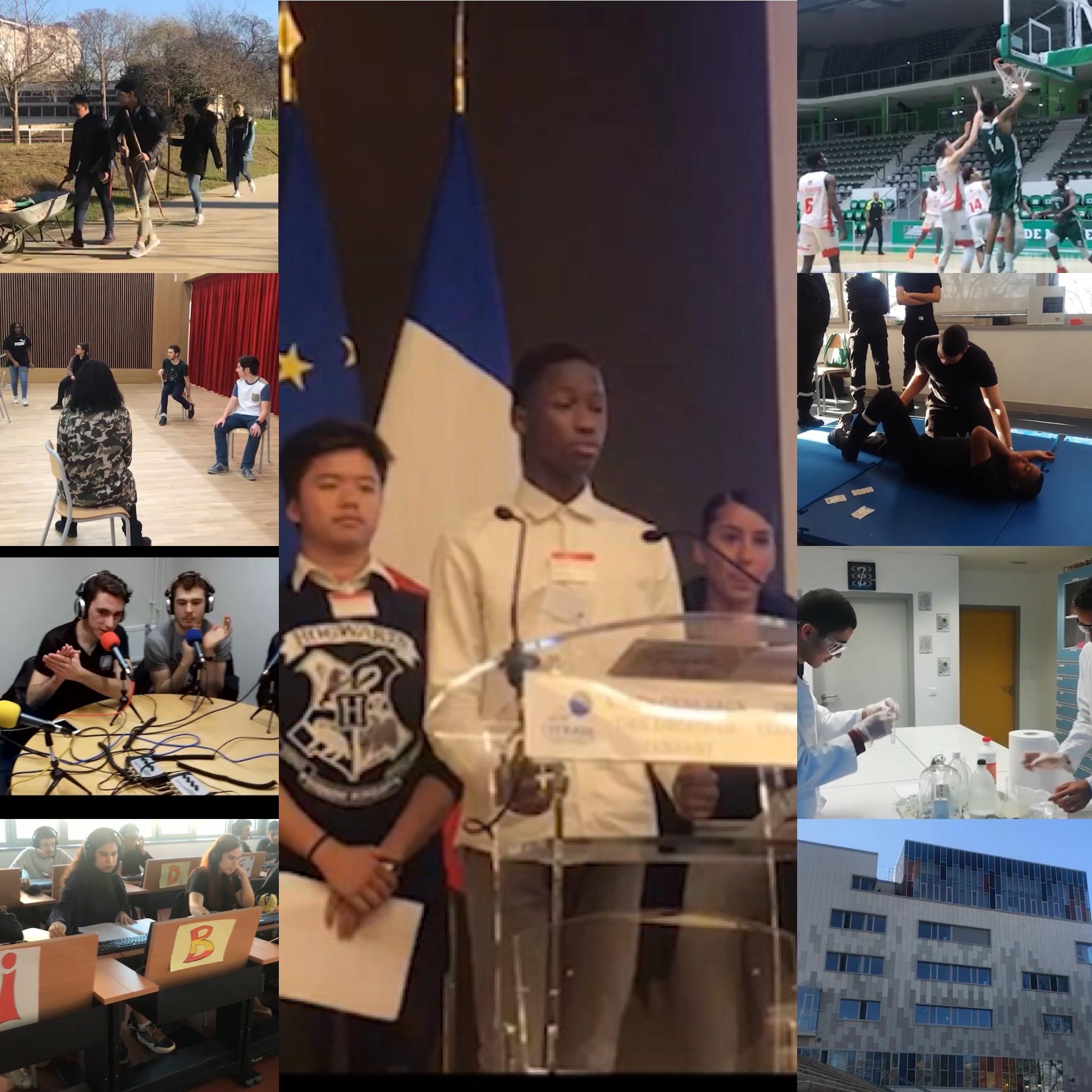 Scènes de la vie au lycée Joliot-Curie